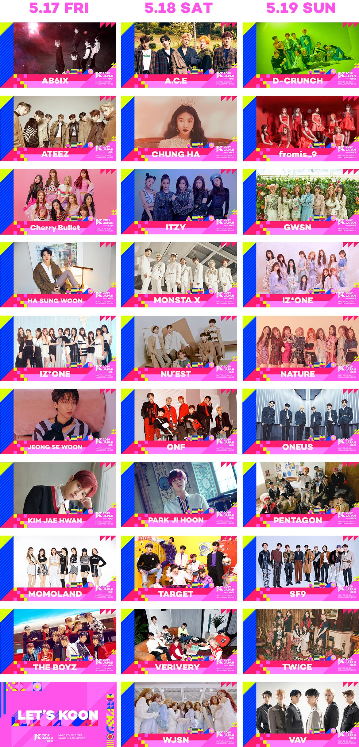 M COUNTDOWN LINE UP